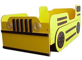 Todler Beds Bulldozer Toddler Bed Yellow
