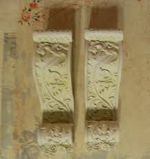 Curtain Rod Sconce Pair Of Small Shabby Ornate Decorative Curtain Rod Sconce Holders
