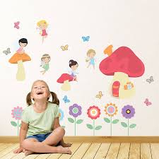fairy wall decals ireland the fairy castle wall stickers wall fairy garden children s wall stickers by parkins interiors notonthehighstreet