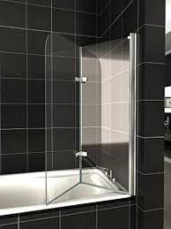 pannelli per vasca da bagno hnnhome pannello vasca da bagno doccia singolo in vetro 6mm