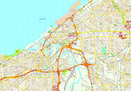 Country Map Usa by Cleveland Map Detailed Road Map Of Cleveland Ohio Very Clear Map
