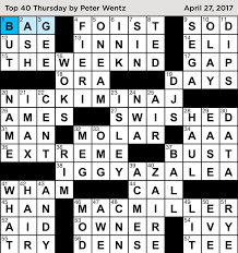 crosswords with friends top 40 thursday answers