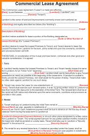 5 commercial lease template sales clerked