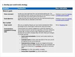 social media plan template 12 free social media templates