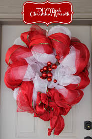 how to make a deco mesh christmas wreath in 1 hour and on the