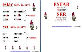 spanish ser u0026 estar mnemonic u0026 rhyme reference or signs by sue summers
