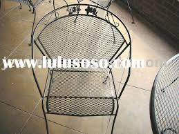 Steel Patio Set Metal Mesh Patio Furniture