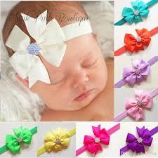 baby ribbon baby bows headbands ribbon bow rhinestone headband