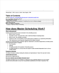 master schedule template 11 free word pdf documents download