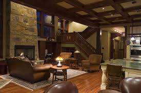 craftsman style living room home craftsman style homes decoration