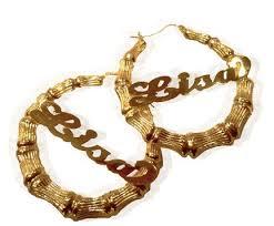 name plate earrings nameplate earrings if you call them bamboo earrings you
