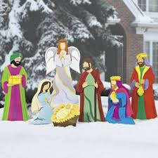 Christmas Outdoor Decorations Nativity Scene by Amazon Com Deluxe Nativity Scene Christmas Metal Yard Decor Home