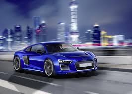 Audi R8 Blue - audi reveals r8 e tron piloted driving concept