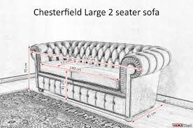 2 Seater Fabric Chesterfield Sofa by Chesterfield 2 Maxi Seater Sofa Two Large Cushions