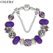 luxury charm bracelet images Luxury brand women bracelet silver plated ribbon charm bracelet jpg
