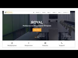 royal multipurpose html5 responsive template themeforest