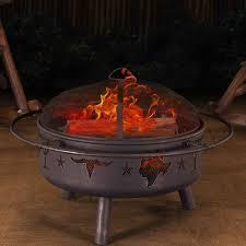 Burning Pit Of Fire - sunjoy jasper steel wood burning fire pit u0026 reviews wayfair