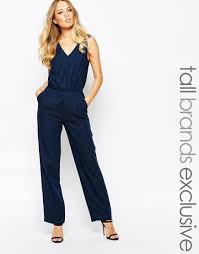 y a s woven jumpsuit in blue lyst