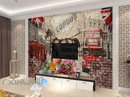 Horse Murals by 3d Vintage London Bus Horse Wall Murals Wallpaper Wall Art Decals