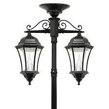 outdoor light post fixtures victorian solar lamp series u2013 double downward hanging lamp post gs