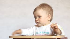 High Chair That Sits On Chair Slow Motion Sequence Of Hungry Baby Boy Banging On High Chair Tray