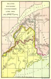 State Of Maine Map by When Maine Went To War Over Its Northern Border Big Think