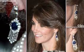 kate middleton diamond earrings kate sapphire diamond earrings montage october style icon kate