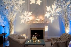 husband birthday decoration ideas at home love this setup holiday winter setup with a snowflake gobo