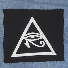 illuminati symbol eye of horus in triangle patch large occult