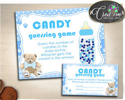 baby shower blue candy guessing game guess how many boy baby
