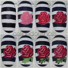 diy rose nail art how to paint patterned nail art beauty on