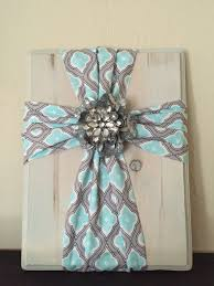 fabric cross on wood super simple and easy to make fabric is