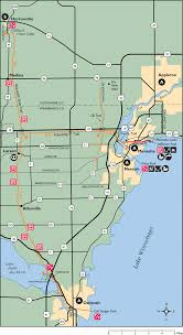 Wisconsin Railroad Map by Bike The Kettle Moraine