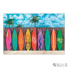 luau beach party decoration wall mural surf u0027s up surfboard
