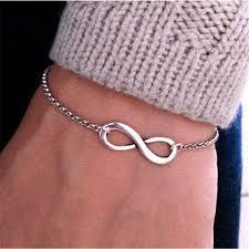 fashion infinity necklace images Sl040 hot new 2017 bijoux fashion vintage infinity 8 bracelet for jpg