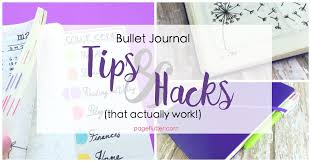 bullet journal hacks that actually work page flutter