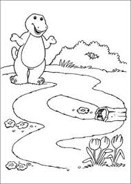 barney drive train barney coloring pages