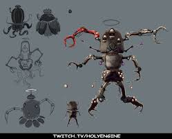 artstation insect robot sketches holyengine