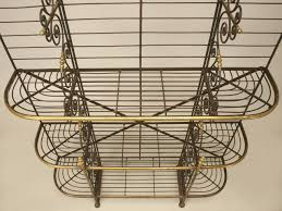 Wrought Iron Bakers Rack With Glass Shelves Bakers Racks Country Bakers Rack Rack Bakers Country