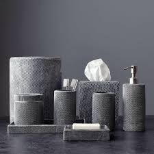Gray And White Bathroom Accessories by Mesh Bath Accessories Kassatex