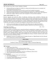 A P Mechanic Resume Avionics Resume Professional Avionics Technician Templates To