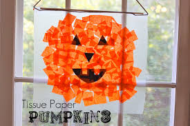tissue paper pumpkins tutorial smashed peas u0026 carrots