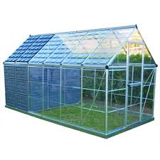 Palram Polycarbonate Greenhouse Palram Grow And Store 6 Ft X 12 Ft Greenhouse 701950 The Home