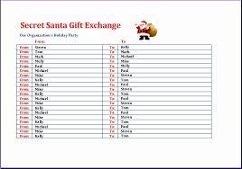 Secret Santa Gift Exchange Template education credits tracker 5uiad new secret santa gift exchange list