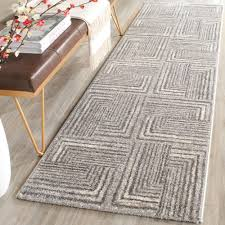 2 X 6 Runner Rugs Safavieh Porcello Light Grey Grey 2 Ft 4 In X 6 Ft 7 In