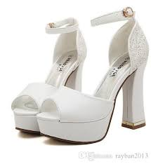 wedding shoes thick heel 2015 luxury ivory white glitter wedding shoes sandals