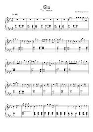 Chandelier Sia Piano Sheet Music Sia The Greatest Piano Musescore