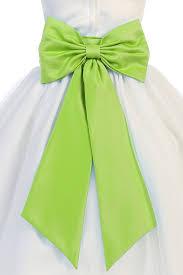 satin sash satin bow for flower girl dress
