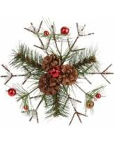 great deals on 12 frosted pine berries and pine cone snowflake