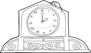 clock roman numerals mouse stock illustration image